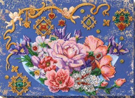 Набор для вышивки бисером Волшебные цветы