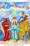 Схема для вышивки бисером на атласе Образ Пресвятої Родини