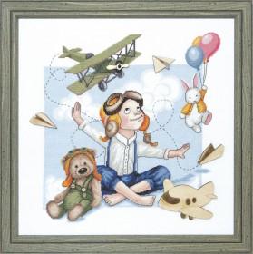 Набор для вышивки крестом Юный летчик Чарiвна мить (Чаривна мить) М-253 - 431.00грн.