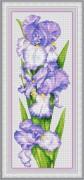 Набор для вышивки крестом Сиреневые ирисы