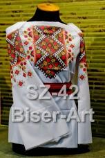 Заготовка для вышивки бисером Сорочка женская Biser-Art Сорочка жіноча SZ-42 (габардин)