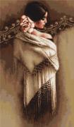Набор для вышивки крестом Испанка с платком