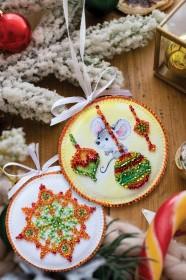 Набор для вышивки новогодней игрушки Маленькая мышка Абрис Арт АВТ-001 - 65.00грн.