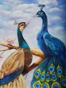 Набор для выкладки алмазной мозаикой Влюбленные павлины