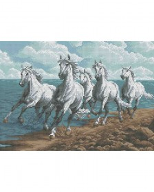 Схема вишивкі бісером на габардині Бегущие лошади Acorns А3-К-730 - 70.00грн.