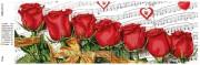 Схема вышивки бисером на атласе Панно Розы