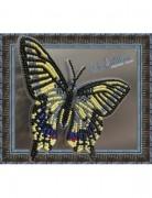 Набор для вышивки бисером на прозрачной основе Бабочка Махаон