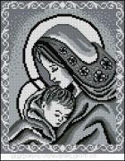 Схема вышивки бисером на габардине Мадонна та дитя