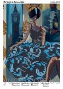 Схема вышивки бисером на атласе Вечер в Лондоне