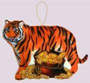 Игрушка из фетра Тигр