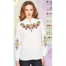 Заготовка вышиванки Женской сорочки на белом льне Biser-Art SZ104 лен