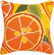 Набор для вышивки подушки крестиком Цитрусовый час