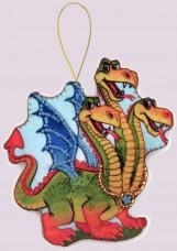 Набор для изготовления игрушки из фетра для вышивки бисером Змей Горыныч Баттерфляй (Butterfly) F108