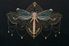 Набор для вышивки крестом Золотая стрекоза Абрис Арт АН-069