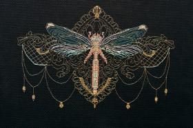 Набор для вышивки крестом Золотая стрекоза