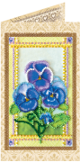 Набор - открытка для вышивки бисером Фиалки