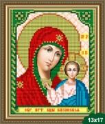 Рисунок на ткани для вышивки бисером Богородица Казанская