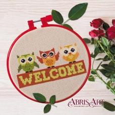 Набор для вышивки крестом Добро пожаловать Абрис Арт АНМ-003