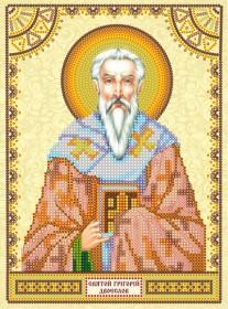 Схема для вышивки бисером на холсте Святой Григорий