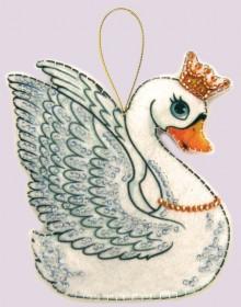 Набор для изготовления игрушки из фетра для вышивки бисером Лебедь Баттерфляй (Butterfly) F101 - 54.00грн.