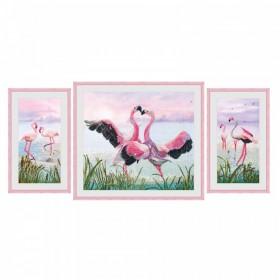 Набор для вышивки нитками Танец фламинго