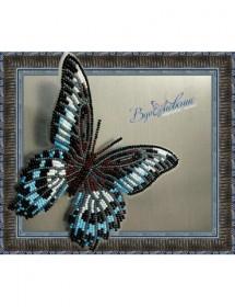 Набор для вышивки бисером на прозрачной основе Бабочка Парусник Полимнестор, , 160.00грн., BGP-004, Вдохновение, Брошки для вышивки бисером