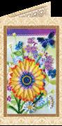 Набор - открытка для вышивки бисером Праздничный букет