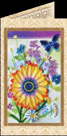 Набор - открытка для вышивки бисером Праздничный букет Абрис Арт АО-120 - 68.00грн.