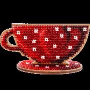 Набор для вышивания бисером по дереву Чашка 2