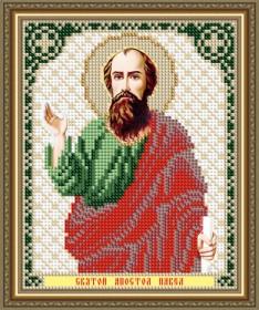 Схема вышивки бисером на авторской канве Святой Апостол Павел