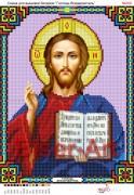 Схема вышивки бисером на габардине Господь Всемогущий
