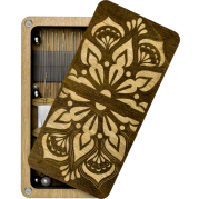 Шкатулка  для бисера прямоугольная с деревянной крышкой Мандала
