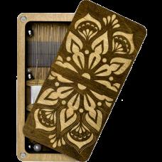 Шкатулка  для бисера прямоугольная с деревянной крышкой Мандала Волшебная страна FLZB(N)-007