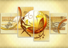 Схема для вышивки бисером на атласе Душа природы