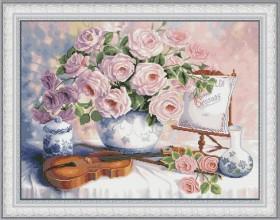 Набор для вышивки нитками Натюрморт со скрипкой