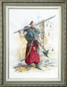 Набор для вышивки крестом Козак - победитель