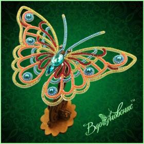 Набор для вышивки бисером Ажурная бабочка 3D Вдохновение BGP-081 - 169.00грн.