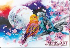 Набор для вышивки бисером на холсте Неразлучные, , 290.00грн., AB-639, Абрис Арт, Животные