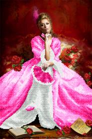 Схема вышивки бисером на атласе Королева бала А-строчка АХ2-054 - 159.00грн.
