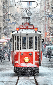 Схема вышивки бисером на атласе Зимний трамвай Tela Artis (Тэла Артис) ТА-481 - 115.00грн.