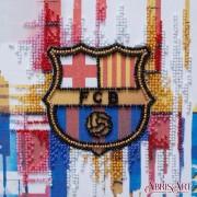 Набор-мини для вышивки бисером на натуральном художественном холсте ФК  Барселона