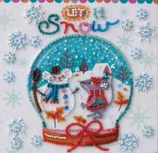 Набор - мини для вышивки бисером Снежность Абрис Арт АМ-211
