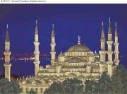 Схема для вышивки бисером на габардине Ночной Стамбул. Голубая мечеть