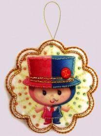 Набор для изготовления игрушки из фетра для вышивки бисером Близнецы Баттерфляй (Butterfly) F123 - 54.00грн.
