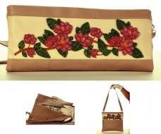 Сумка-клатч для вышивки бисером Ветка магнолии Баттерфляй (Butterfly) LB 041