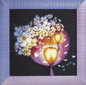 Набор для вышивки крестом Ночное свечение, , 294.00грн., М-272, Чарiвна мить (Чаривна мить), Цветы