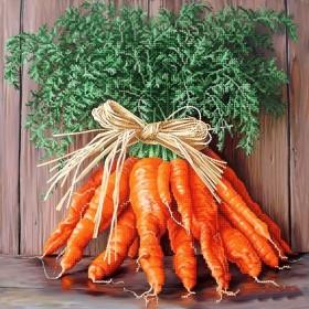 Схема вышивки бисером на атласе Букет моркови