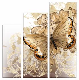 Схема вышивки бисером на габардине Бархатные крылья  Tela Artis (Тэла Артис) СК-009 - 270.00грн.