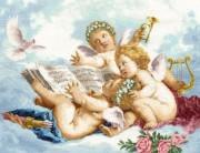 Набор для выкладки алмазной мозаикой Ангелы на облаках