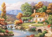 Схема для вышивки бисером на атласе Осенне очарование